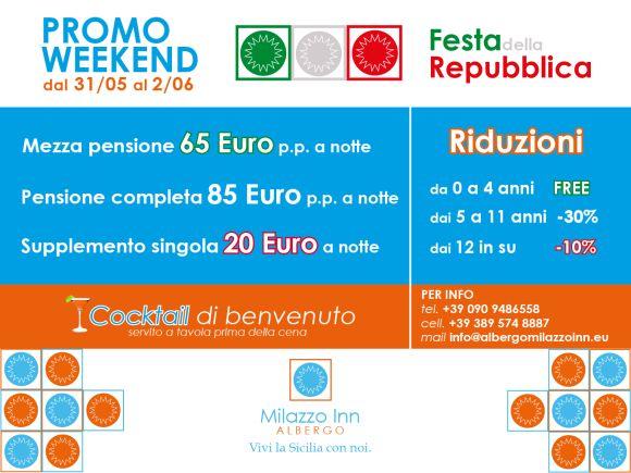 PROMOZIONE DEL 2 GIUGNO! FESTA DELLA REPUBBLICA!